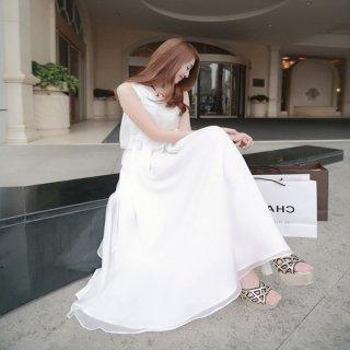 韓国ワンピース❤マキシ丈ドレス!夏のバカンスはこのワンピで着飾る?
