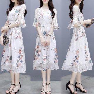 韓国ワンピース❤形は韓国ファッションですが、なんか神秘的な柄が和風チックで選びました!