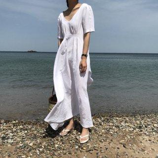 韓国ワンピース❤シンプル無地の韓国ファッションナチュラルワンピ!