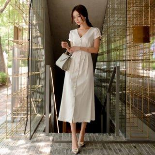 韓国ワンピース❤純白清楚な大人女子を演じるロングワンピ!