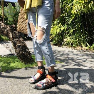 韓国韓国ブランド❤X2 韓国ルート正規品 ライトカラーダメージストレートデニム