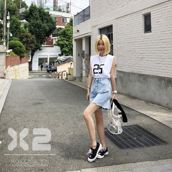 韓国パンツのデニムパンツ・ジーンズ