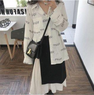 韓国ブラウス❤とっても可愛い英字ロゴプリント韓国オルチャントップス!