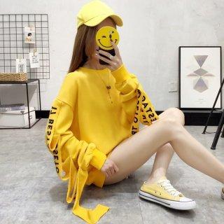 韓国トレーナー❤袖コンシャスが個性的!ロゴが可愛い韓国オルチャントップス