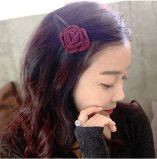 韓国ヘアピン❤一輪の可憐なバラがあなたの頭に咲いてしまいます