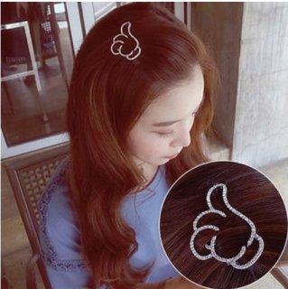 韓国ヘアピン❤翼の形のシルバー色の可愛いヘアピン