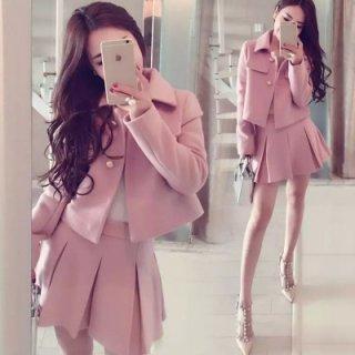韓国ワンピース❤セットアップ ミニスカートとジャケットのとっても可愛いセットアップ
