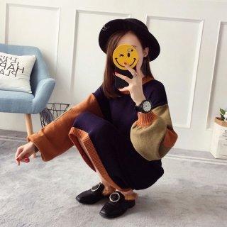 韓国ワンピース❤ニット とっても可愛いバルーン袖のオルチャンニットワンピ