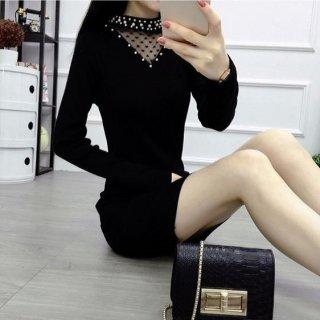 韓国ワンピース❤韓国ドレス 首元がハートとパールで可愛いし、花柄やレースなど多種類です