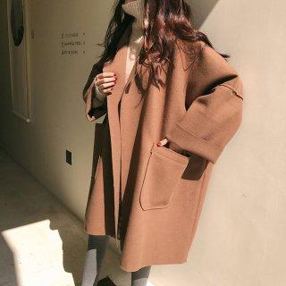 韓国アウター❤チェスターコート ダボッと韓国ファッションで可愛いコート