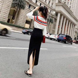 韓国ワンピース❤セットアップ フレア袖のトップスとペンシルスカートのセット
