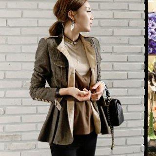 韓国アウター❤チュニック風バックコンシャスジャケット