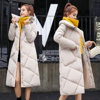 韓国アウター❤ダウンコート キルティングコートで可愛いロングなアウター