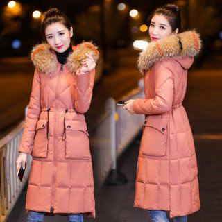 韓国アウター❤ダウンコート きれいなお姉さんという感じのコート。フードのファーはカラフルとノーマルあります