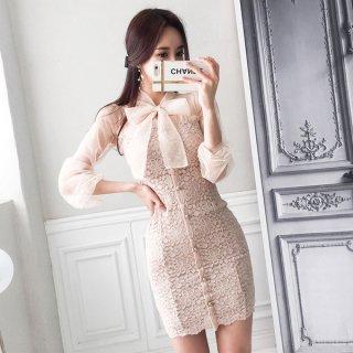 韓国ワンピース❤とってもガーリー可愛いセクシードレス