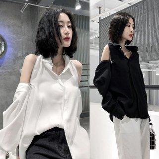 韓国トップス❤ブラウス チャック開けると超セクシーな個性的ブラウス