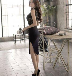 韓国ワンピース❤韓国ドレス バックレースがとっても可愛いセクシーワンピ