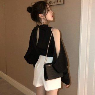 韓国トップス❤ブラウス チラッと見える肩がセクシー可愛い