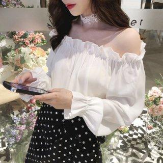 韓国トップス❤ブラウス オフショル可愛い韓国ファッション