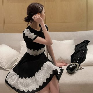 韓国ワンピース❤パーティードレス お嬢様可愛い清楚女子のミニワンピ