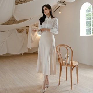 韓国セットアップ❤襟デザインが可愛い清楚系ツーピース