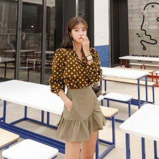 韓国セットアップ❤シックな秋カラーで上品になれる可愛いツーピース