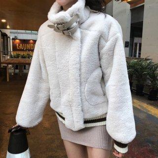 韓国アウター❤ボリュームある可愛いふわもこボアジャケット