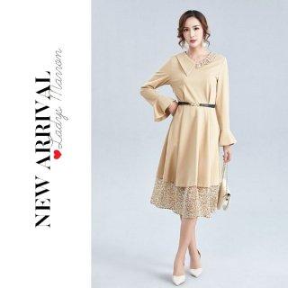 韓国ワンピース❤韓国ドレス 上品だけど個性的な大人可愛いワンピース 962765