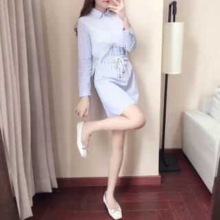 韓国ワンピース❤レイヤードデザインの可愛いマリンワンピース 962883