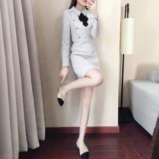 韓国ワンピース❤ボタンがアクセントの可愛いシンプルワンピース 962890