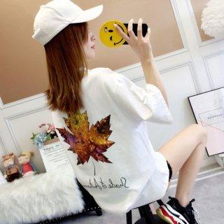 韓国Tシャツ❤トップス さわやかもみじコーデのシャツはいかが? 962324