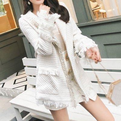 韓国セットアップ❤フリンジをたっぷりあしらったジャケット&スカートの可愛いツーピース 963302