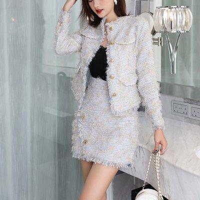 韓国セットアップ❤フォーマルにも使える上品さ! ジャケット&スカートの可愛いツーピース 963307