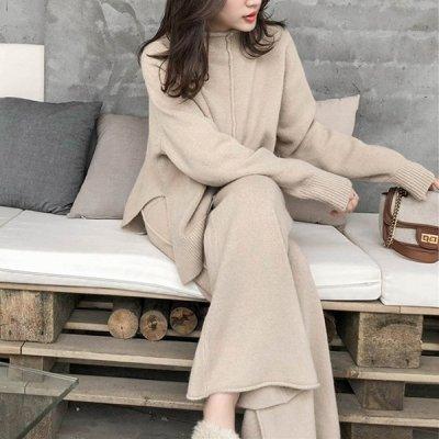 韓国セットアップ❤ルーズな着こなしが可愛いプルオーバー&パンツのツーピース 963358