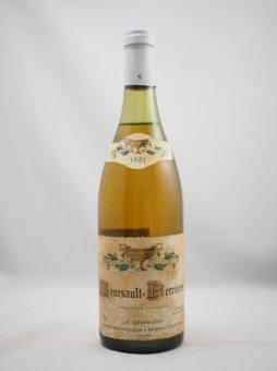 1981 Meursault Perrieres J.F COCHE DURY         1981 ムルソー・ペリエール コシュ・デュリ