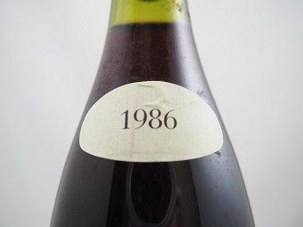 1986 VOSNE-ROMANEE CROS-PARANTOUX Henri Jayer   1986 ヴォーヌ・ロマネ クロ・パラントゥ  アンリ・ジャイエ