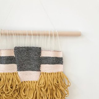 Boho Blush and Gold Wallhanging