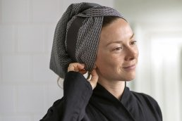 PIQUE HAND HAIR TOWEL