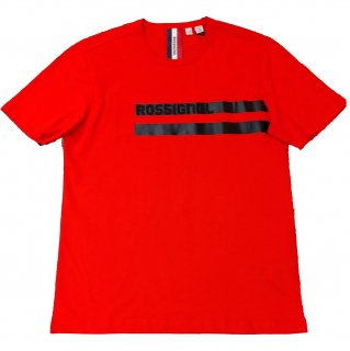 <img class='new_mark_img1' src='//img.shop-pro.jp/img/new/icons15.gif' style='border:none;display:inline;margin:0px;padding:0px;width:auto;' />Rossignol logo stripe print T-shirt RED