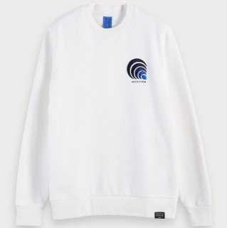 <img class='new_mark_img1' src='//img.shop-pro.jp/img/new/icons14.gif' style='border:none;display:inline;margin:0px;padding:0px;width:auto;' />Embroidered cotton crewneck sweatshirt Ecru