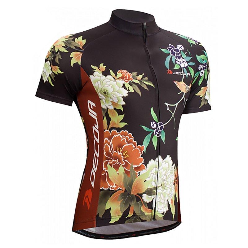 f55f966853919d DECOJA サイクルジャージ 半袖 花鳥 (27176)[送料無料] サイクルウェア 自転車ウェア サイクルジャージ