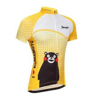レディース サイクルジャージ半袖 くまモン黄色(29710)