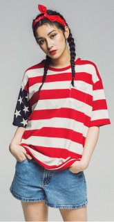 17S AMERICAN POKET TEE SS RED