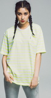 17S STRIPE TEE SS TYPE A-NEON