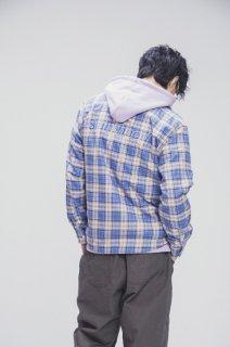 SP SAINTHOOD CHECK SHIRT LS-BLUE-