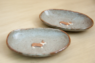 豆皿コーギー*-haru*物-