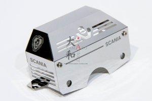SCANIA 鏡面V8ステンレスミッションカバー 019C
