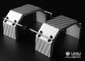 【取り寄せ】ステンレス縞板鋼板リアフェンダー1軸用