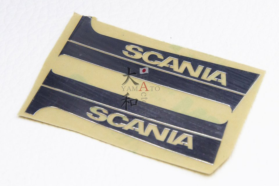 SCANIA用 ドアピラーメタルステッカー