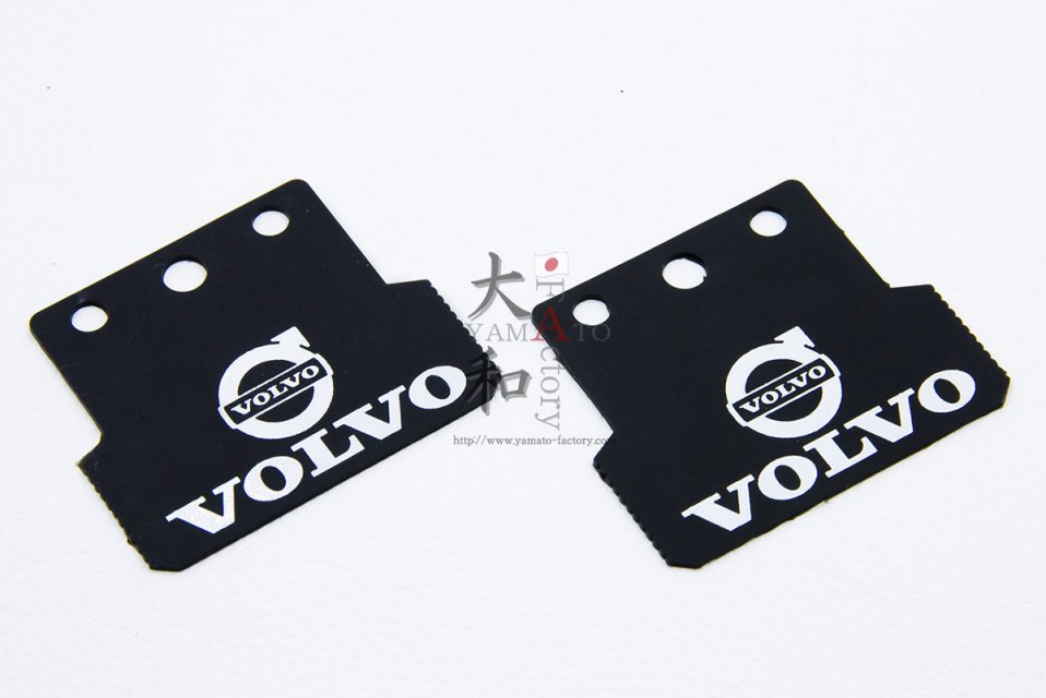 Volvo用 ロゴ入りマッドフラップ<img class='new_mark_img2' src='https://img.shop-pro.jp/img/new/icons1.gif' style='border:none;display:inline;margin:0px;padding:0px;width:auto;' />